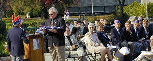 Veterans Day flag ceremony