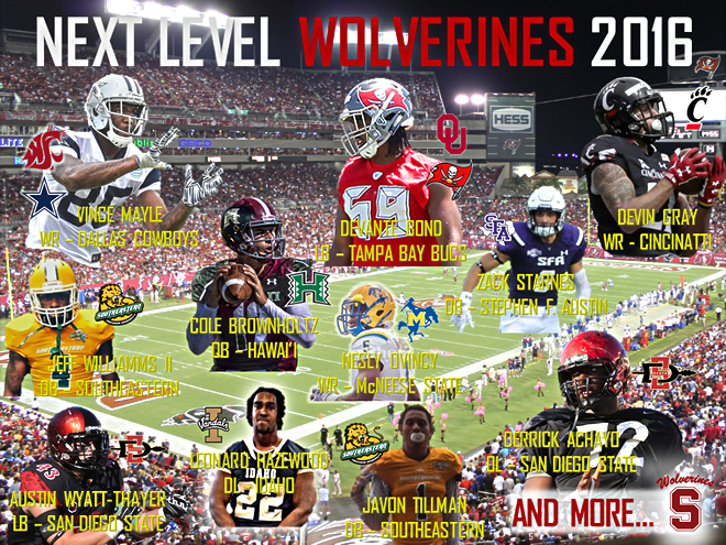 Graphic of former Wolverines