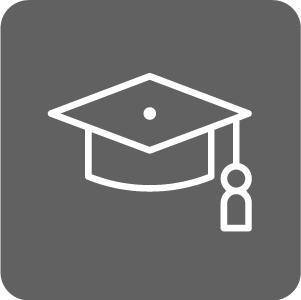 Success Center icon of graduation cap