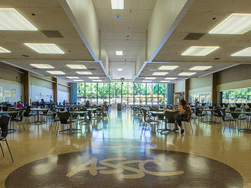Inside of the cafeteria