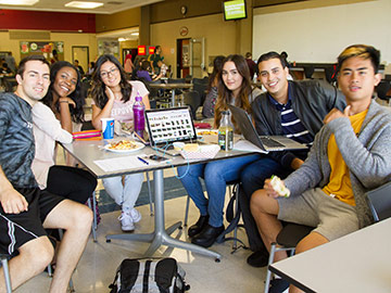 Student group at the cafeteria
